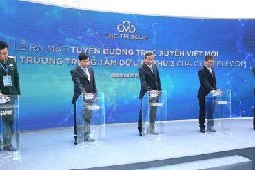 CMC Telecom ra mắt Tuyến cáp xuyên Đông Nam Á đầu tiên và Trung tâm dữ liệu thứ ba tại Hà Nội